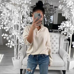 ekattire Sweaters - DELANEY— in Warm Cream